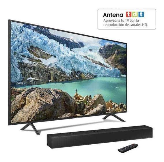 Combo Samsung Tv 50ru7100 4k Uhd + Barra De Sonido + Tdt