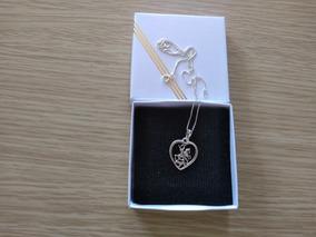 Pingente Prata 925 São Jorge Coração