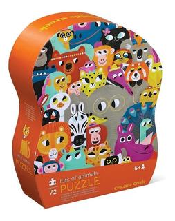 Rompecabezas Puzzle 72 Piezas Muchos Animales Croco Edu Full