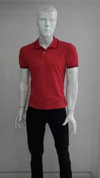 Playera Polo De Hombre Roja