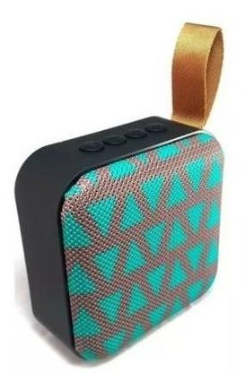 Caixa De Som Portatil Com Bluetooth T5 - Preta/triângulos