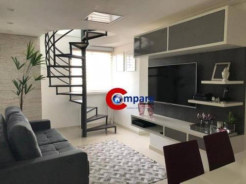 Cobertura Com 2 Dormitórios À Venda, 100 M² Por R$ 495.000,00 - Vila Galvão - Guarulhos/sp - Co0061