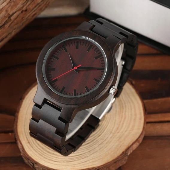 Reloj De Pulsera Madera Bambú Para Hombre