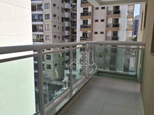 Apartamento Com 2 Dormitórios À Venda, 80 M² Por R$ 580.000,00 - Santa Rosa - Niterói/rj - Ap2993