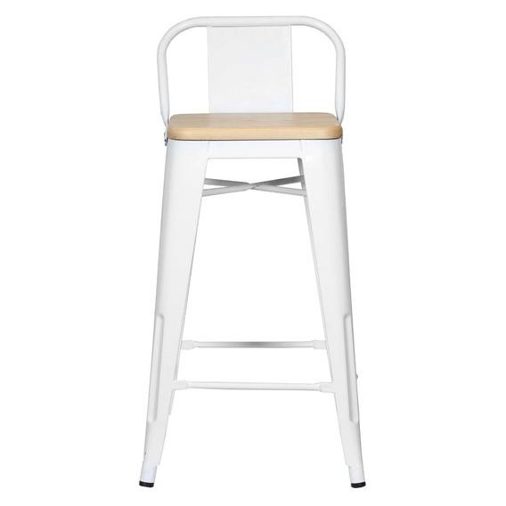 Piso Taburete Form Design 66 Cm Tolix Madera C/ Resp Blanco