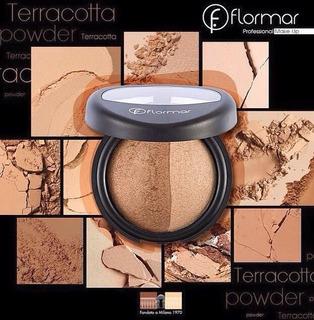 Polvo Facial Compacto Terracota Dual Gold Flormar Oferta