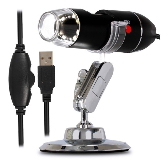 Microscópio Digital Zoom 1600x Câmera 2.0mp Usb Profissional