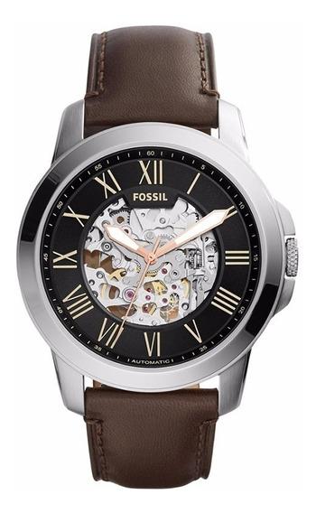 Relógio Fossil Masculino Automatico Me3100/0pi Esqueleto
