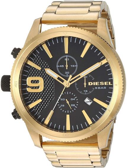 Relógio Diesel Masculino Black & Gold