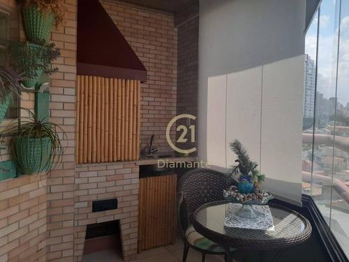 Apartamento Com 4 Dormitório, 1 Dormitório Transformado Em Escritório, 1 Suíte, 3 Garagens, Lazer -   91 M² Por R$ 3.500/mês - Bosque Da Saúde. - Ap8036