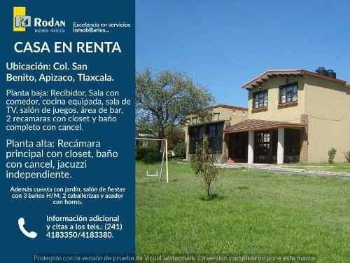 Casa Sola En Renta San Benito Xaltocan