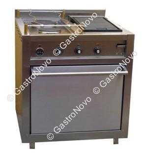 Cocina Electrica De Dos Hornallas, Plancha Bifera Y Un Horno