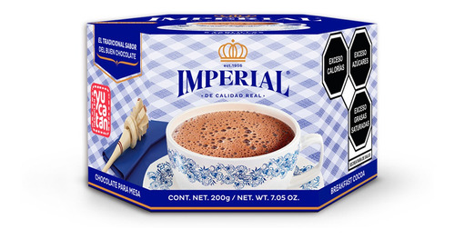 Chocolate Imperial Tablilla Semi Amargo 200 Gr