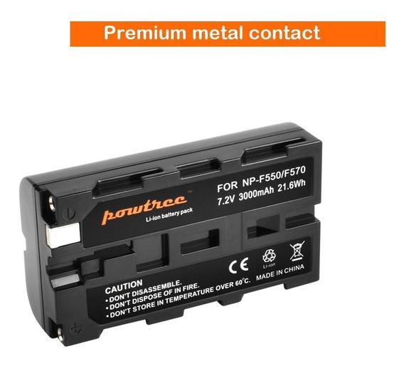 Bateria Np F550 F770 Para Sony Iluminador De Led 160