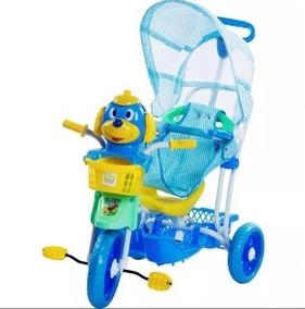 Triciclo C/ Capota Carrinho Bebê 3 Em 1 Musical Luz Belbrink