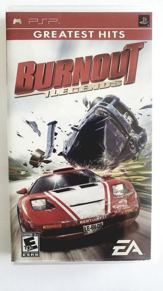 Jogo Psp Burnout: Legends - Greatest Hits- Original