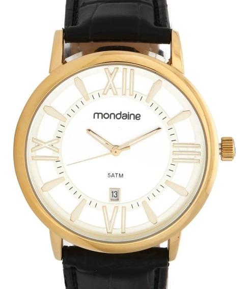 Relógio Mondaine Masculino Couro Classico - 83357gpmvdh2