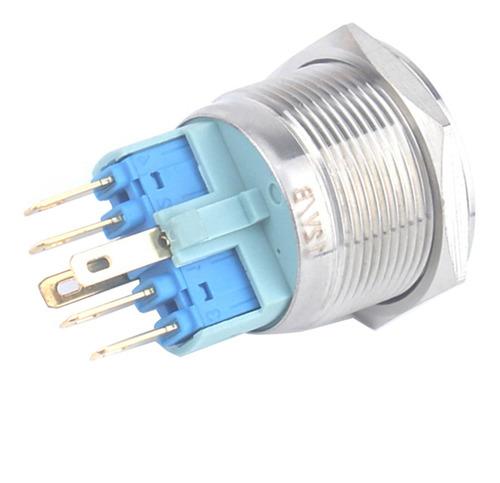 Imagen 1 de 11 de 25mm 12v Interruptor De Botón Pulsador Momentáneo De