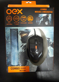 Mouse Com Mousepad Combo War Mc-100