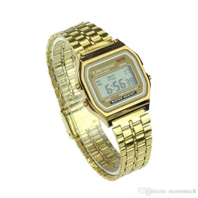 Relógio Vintage Pulso Retro Barato Dourado