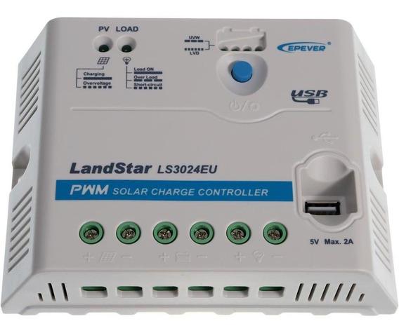 Controlador De Cargas 30a 12/24v Off Grid Pwm - Ls3024eu