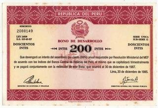 Bono De Desarrollo De 200 Intis