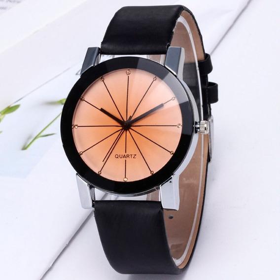 Relógio Feminino De Luxo Branco Preto Top Barato Promoção