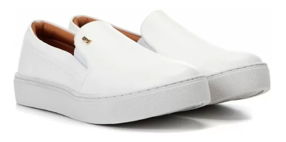 Tênis Feminino Santa Lolla Slip On New Branco Frete Grátis