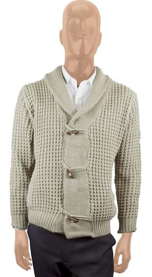 Sweater Cardigan Beige Tejido Jersey - Talla L