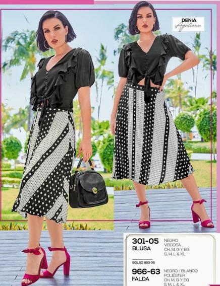 Falda Negro/blanco 966-63 Cklass Primavera-verano 2020