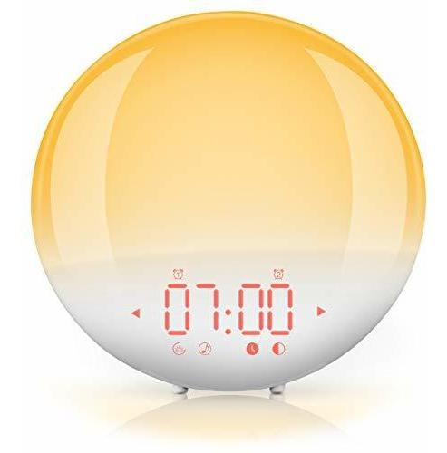Despertador Luz Nocturna Radio Fm Digital Para Dormitorio