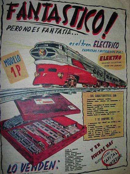 Publicidad Clipping Juguete Antiguo Tren Electrico Elektro