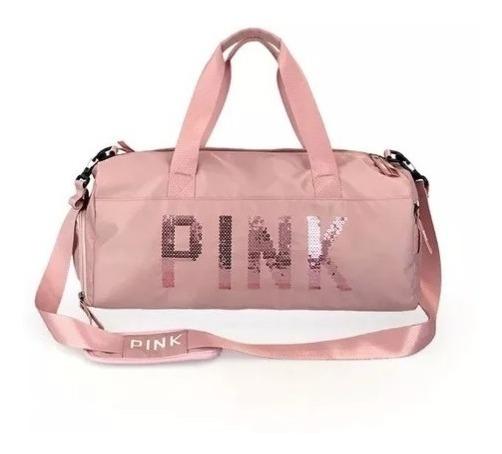 Bolsa Pink Academia Fitness Feminina Treino Viagem Luxo