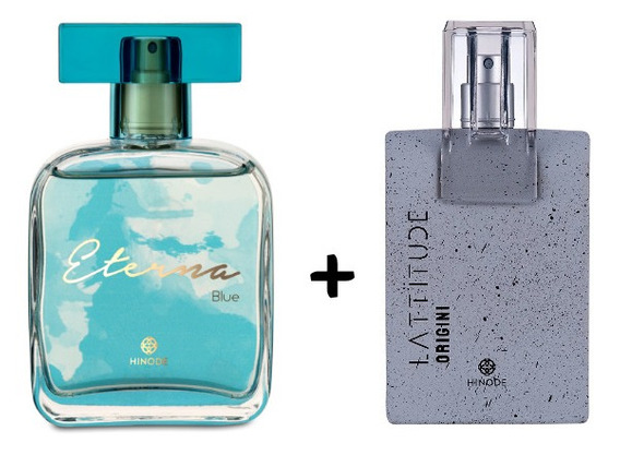 Kit Perfume Fem Eterna Blue + Perfume Masc Lattitude Origini