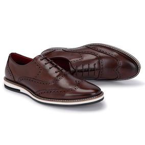 843813e164 Sapato Social Masculino Oxford Modelo Inglês Luxo Couro 046