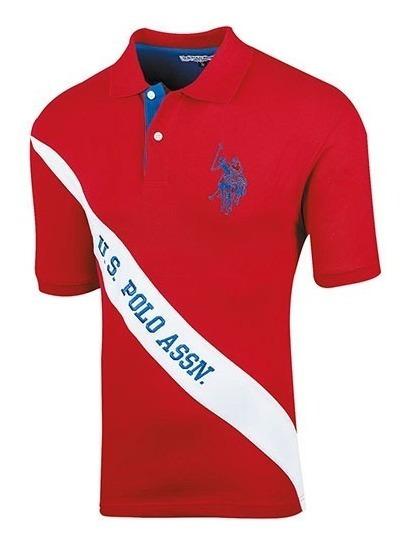Playera Casual Caballero Polo Assn Mu3012217 Rojo 74978 T2