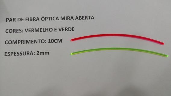 Par Fibra Óptica Vermelho E Verde 2mm /10cm Mira Alça Massa