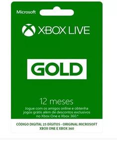 Xbox Live Gold Br Usa Cartão 12 Meses - Preço Imbatível