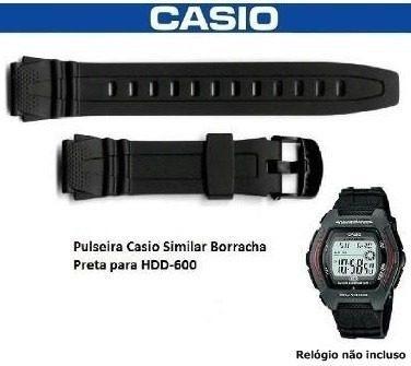 Pulseira Borracha Preta Similar Casio Hdd-600 Leia Anuncio
