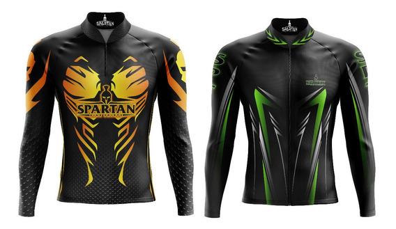 Kit (2) Camisetas Ciclista Manga Longa Ref 01/ Ref 06