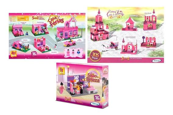 Super Kit Brinquedos Xalingo - Blocos De Montar Para Meninas