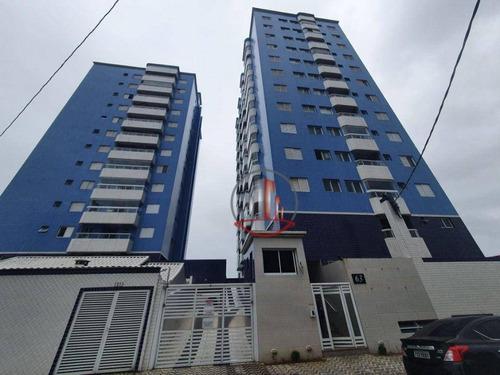 Imagem 1 de 19 de Apartamento De 1 Dormitório Em Praia Grande, Vista Total Para O Mar - Ap2747
