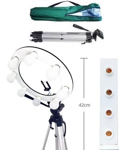 Kit Iluminador Completo Grande Com Tripe + Mini Torre Make