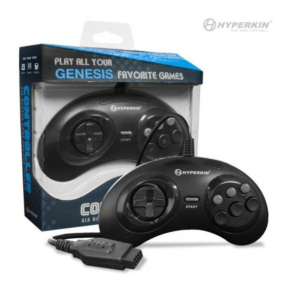Controle Hyperkin Gn6 Seis Botões Sega Gênesis Mega Drive