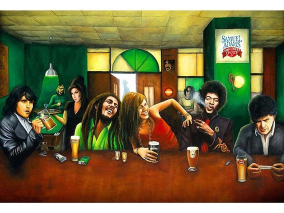 Placa Quadro - Decorativo - Bob Marley - Reggae - (h138)