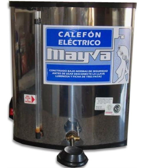 Calefon 25 Litros N20 Electrico Inoxidable Mayva