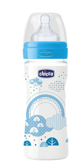 Mamadera Para Bebes Chicco Wellbeing Silicona 250ml +2m