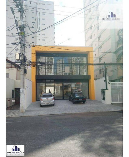 Imagem 1 de 15 de Sobrado, Ponto, Salão Comercial Para Alugar Em Moema, 450 M², 2 Vãos Livres, 4 Banheiros, Área Aos Fundos, São Paulo. - So0345