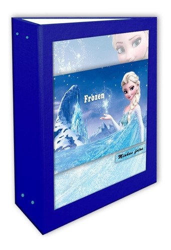 Álbum Princesa Frozen Azul 10x15 - 240 Fotos + Brinde