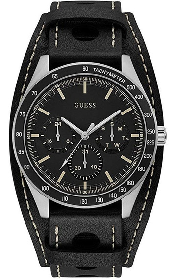 Relógio Guess W1100g1 Black Calendário